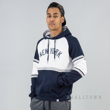 MAJESTIC FLEECE BLOCK OTH HOODY NEW YORK YANKEES WHITE