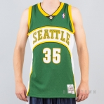 MITCHELL & NESS NBA SWINGMAN JERSEYS SEATTLE SUPERSONICS 2007-08 / KEVIN DURANT No. 35 GREEN/WHITE