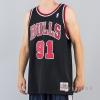 MITCHELL & NESS NBA SWINGMAN JERSEYS CHICAGO BULLS 1997-98 / DENNIS RODMAN No. 91 BLACK/RED