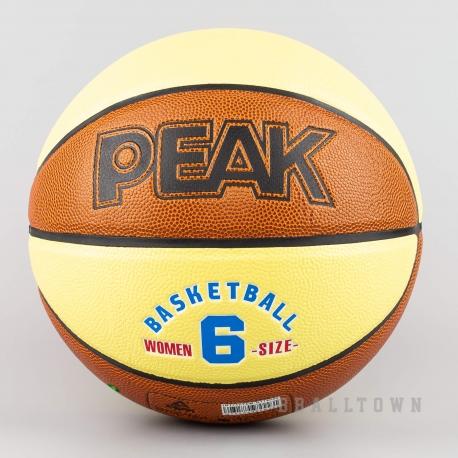 PEAK BASKETBALL TRAINING PU BASEKETBALL(6) BROWN/YELLOW - Q174040