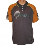 AND1 CTTN houndstooth polo