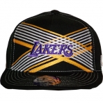 UNK LAKERS CROSS NBA CAP